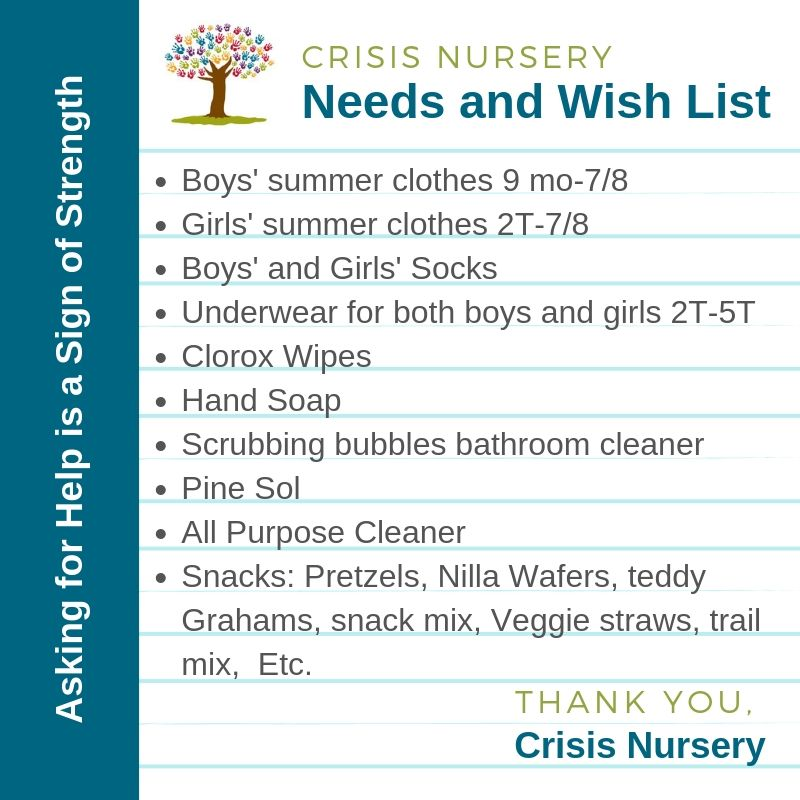 crisis nursery needs and wish list_June 5